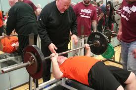Power Lifting Bench Press Mid Winter Tournament Special Olympics Iowa