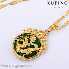 dragon jade necklace pendant images New arrival xuping jewelry brass copper gold 24k dubai dragon jade jpg