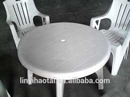 Plastic Tables And Chairs Round Plastic Patio Table Gccourt House