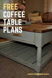 coffee table with drawers free woodworking plans