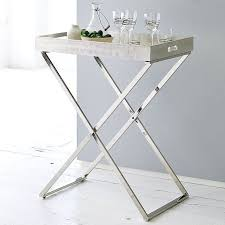 butler table with tray decor of folding butlers tray table shop tall butler tray stand