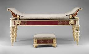 glass furniture couch and footstool with bone carvings and glass inlays work of