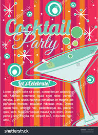 cocktail party invitation card stock vector 135072560 shutterstock