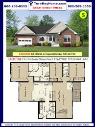 3 bedroom 2 bath house plans with basement bedrooms square feet