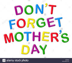 don u0027t forget mothers day u0027 spelt out by magnetic fridge letters