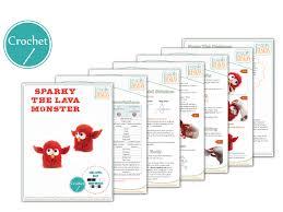 amigurumi pattern pdf free sparky the lava monster amigurumi toy pdf crochet pattern irarott inc