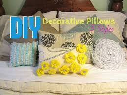 Decorative Styles Diy Decorative Pillows 3 Styles Youtube