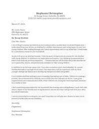 cover letter sample reference letter for child care worker sample
