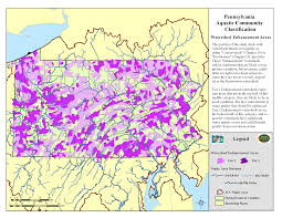 Map Pennsylvania by Pnhp Aquatic Classification Project Enhancement Priorities