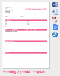 meeting agenda template 46 free word pdf documents download
