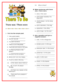 was there were elementary worksheet