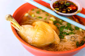 lexis penang breakfast duck noodles 鸭腿面线 and breakfast sungai pinang penang