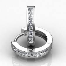 white gold diamond hoop earrings 14kt white gold diamond hoop earrings union diamond