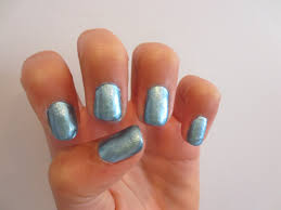 nail crazy notd solid blue chrome nails
