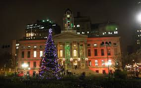 mcbrooklyn 40 foot christmas tree lights up brooklyn borough hall