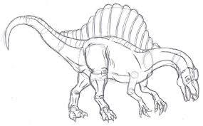 spinosaurus sketch by bluedramon on deviantart
