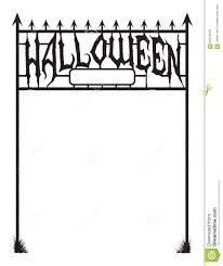 halloween border vector image gallery of cemetery gates vector
