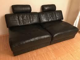 designer mã bel stuttgart details zu de sede sofa schwarz leder schlaffunktion