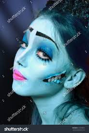 halloween corpse bride makeup halloween horror scene corpse bride under stock photo 118398925