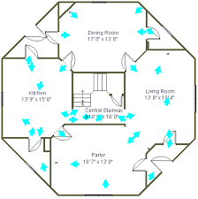 custom built house plans octagon house plans home vintage blueprint design custom building