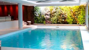 beautiful white brown wood glass unique design house indoor pool