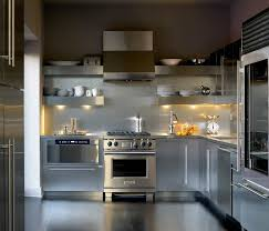 Open Shelves Kitchen Design Ideas by Add Sleek Shine To Your Kitchen With Stainless Steel Shelves