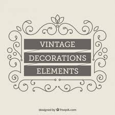 vintage decoration elements vector free