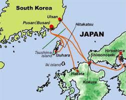 pusan on map japan cycling navigator information ferry to japan