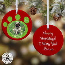 personalized photo christmas ornaments pet memorial pawprint 2