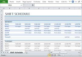 Employee Schedule Excel Template Employee Shift Schedule Template For Excel