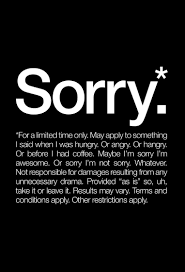 sorry white as poster in standard frame by words brand juniqe
