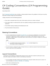 text layout programming guide c coding conventions c programming guide c sharp programming