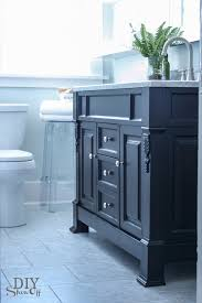 Blue Bathroom Vanity by Bathroom Before And After Diy Show Off Diy Decorating And
