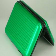 Rhinestone Business Card Holder Wallet Aluminum Credit Card Holder Green Rhinestone By Dmm Ebay