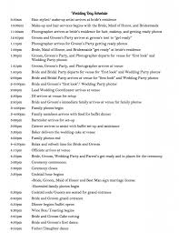 day of wedding coordinator wedding day schedule bexbernard