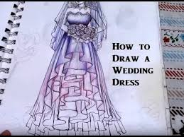 how to draw a wedding dress for beginners super easy real time