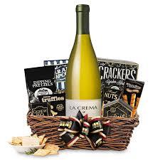 Gift Baskets With Wine Buy La Crema Chardonnay Gift Basket Online Wine Gift