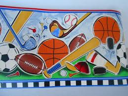 Wallpaper Borders For Kids Wallpaper Border Let U0027s Play Ball Kids Room Sports Baseball