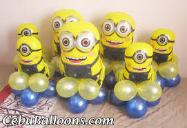 minions centerpieces big small minions centerpieces cebu balloons and party supplies