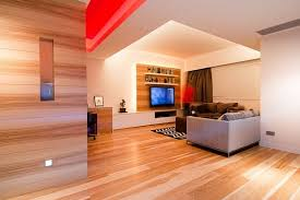 contemporary wooden paneling apartment in hong kong