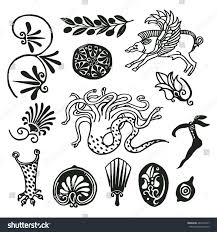 freehand drawings ancient ornaments decor stock vector
