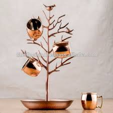 copper metal wire mug holder mug stand mug tree cups copper mug