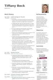 Visual Resume Samples by Kindergarten Teacher Resume Samples Best Resume Collection