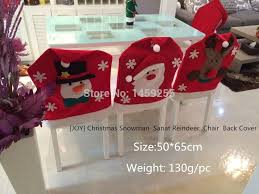 Christmas Chair Back Covers 2pcs Sale Santa Claus Now Man Deer Red Hat Chair Back Covers
