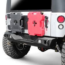jeep rear bumper jcroffroad jeep wrangler 2007 2017 mauler stubby rear hd bumper