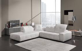canapé d angle en cuir blanc canapé angle cuir blanc têtières réglables cecile design tendance