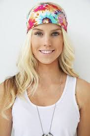 tie dye headbands bohemian headband festival wrap purple stretchy hair