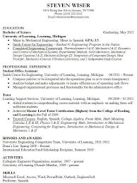 What Should Be The Font Size In A Resume Quora by Sample Resume Gpa Example Resumes Engineering Career Services