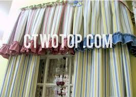 Yellow Striped Curtains Simple Cotton Blue And Yellow Striped Curtains No Include Valance