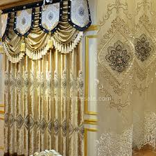 Black And Gold Curtain Fabric Luxury Curtain In Gold Color Velvet Fabric Living Room